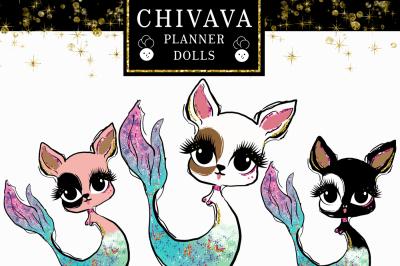 Chivava mermaid dolls clipart