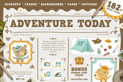Adventure Today - kids graphic