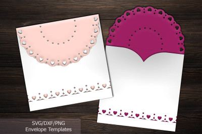 rustic lace envelope, svg cutting template, wedding invitation
