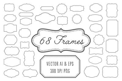 Vintage Frames, Labels, Badges