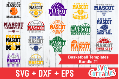 Basketball Template Bundle #1, svg cut files