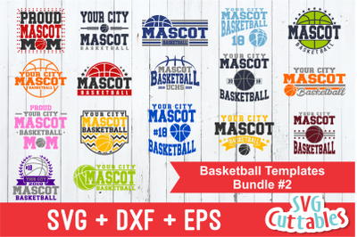 Basketball Template Bundle #2, svg cut files