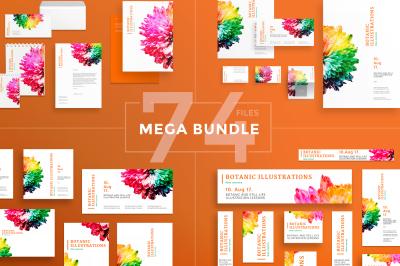 Design templates bundle   flyer, banner, branding   Illustration Lessons