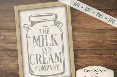 Milk and Cream SVG