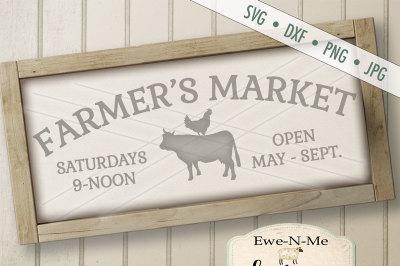 Farmers Market Cow Chicken
