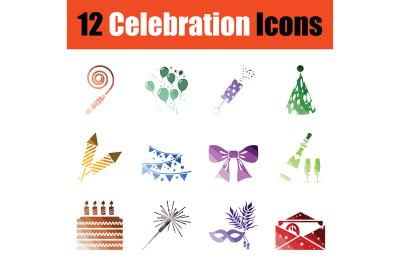 Set of celebration icons