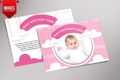 Baby Birthday Card Template