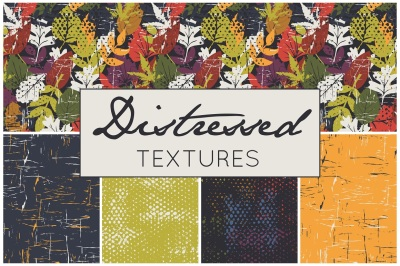 Seamless textures, distressed patterns, distressed textures