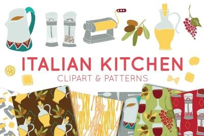 Food Clipart, Italian Clipart, Digital Paper, Italian, Food, Clipart