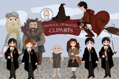 School of Magic Clipart