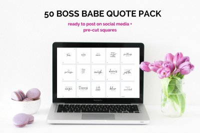 50 Image Boss Babe Instagram Quotes Pack