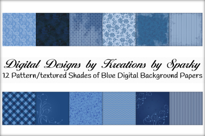 Shades of Blue Digital Background Papers