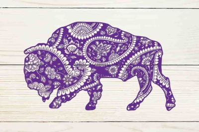 Mandala buffalo SVG DXF PNG EPS AI