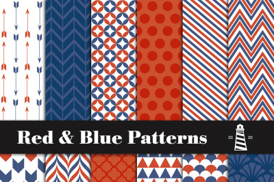 Red And Blue Digital Paper