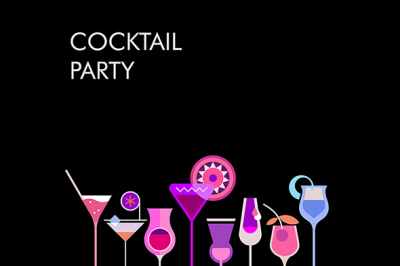 Cocktail Party vector banner designs (large set)