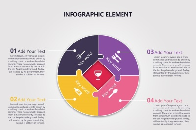 Simple Presentation Infographic Template