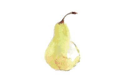 Pear-watercolor