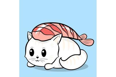 Sushi cat roll.