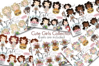 Cute Girls And Unicorn Girls Collection