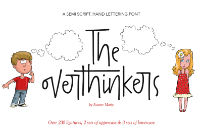The overthinkers hand lettering font