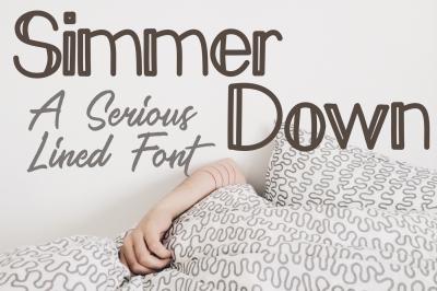 Simmer Down Decorative Sans Serif Font