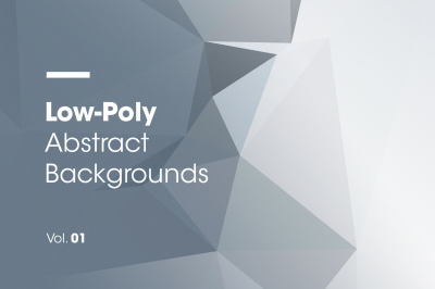 Low-Poly | Abstract Backgrounds | Vol. 01