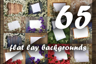 Flat lay photos of notebook