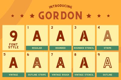 CS Gordon Font Family