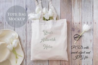 Tote Bag Mockup - Gardening