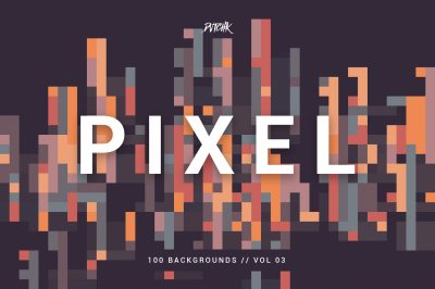 Pixel | Colorful Motion Square Backgrounds | V. 03
