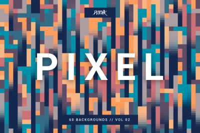 Pixel | Colorful Motion Square Backgrounds | V. 02