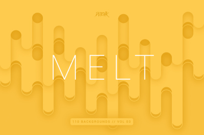 Melt | Abstract Rounded Backgrounds | Vol. 03