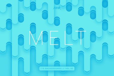 Melt | Abstract Rounded Backgrounds | Vol. 02