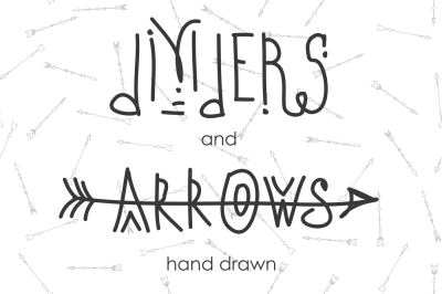 Set of tribal arrows and dividers