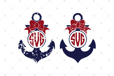 Anchor SVG Monogram Frames