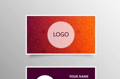 Modern Pattern Business Card Template
