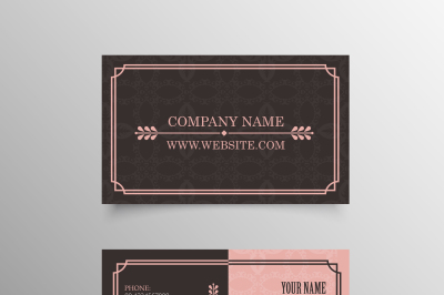 Classic Pattern Business Card Template