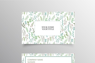 Leaf Pattern Business Card Template