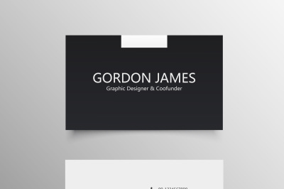 Clean Company Business Card Template