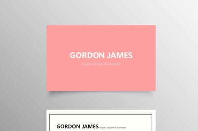 Elegant Pink Business Card Template