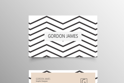 Abstract Line Business Card Template