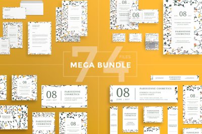 Design templates bundle | flyer, banner, branding | Cosmetics Collection