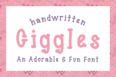 Giggles Font Handwritten Serif Font