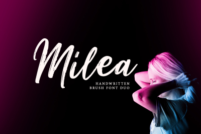 Milea - Handwritten Brush Font Duo