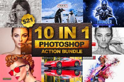 10 in 1 Photoshop Action Bundle