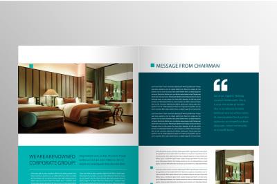 Elegant Green Company Brochure Template