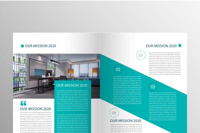 Modern Green Content Brochure Template