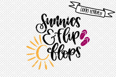 Sunnies and flip flops svg file, summer svg