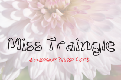 Miss Triangle Jeans Typeface 2018 - Only $1