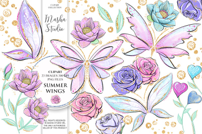 SUMMER WINGS clipart